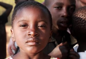 An orphaned African child.
