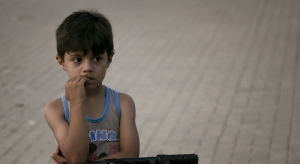 An orphan boy in India.
